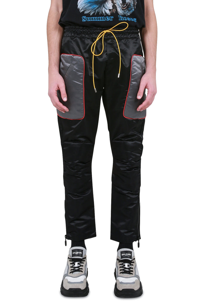 Rhacer Moto Satin Pants - Black