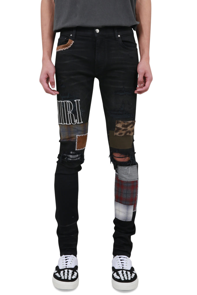 Grunge Patch Jeans