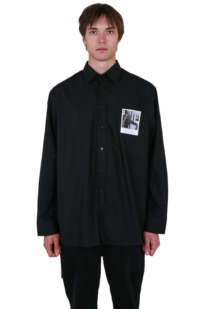 Big Fit Patched Shirt - Black