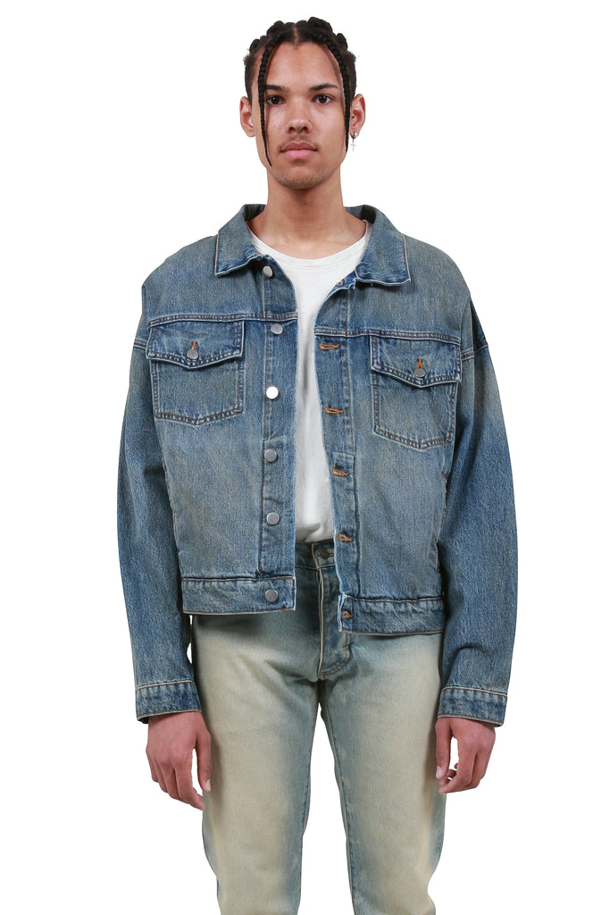 Vintage Trucker Jacket - Blue