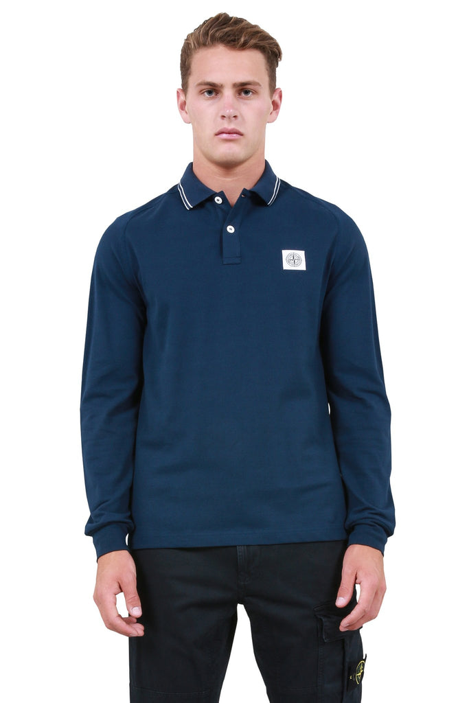 Longsleeve Polo Shirt - Marine Blue