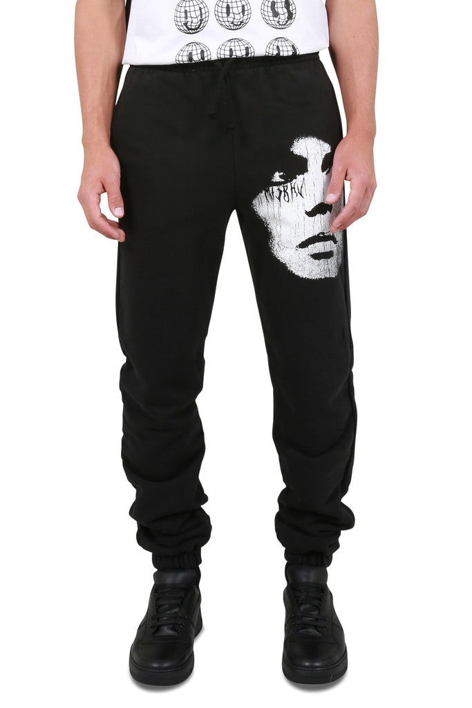 The Screen Print Sweatpants - Washed Black
