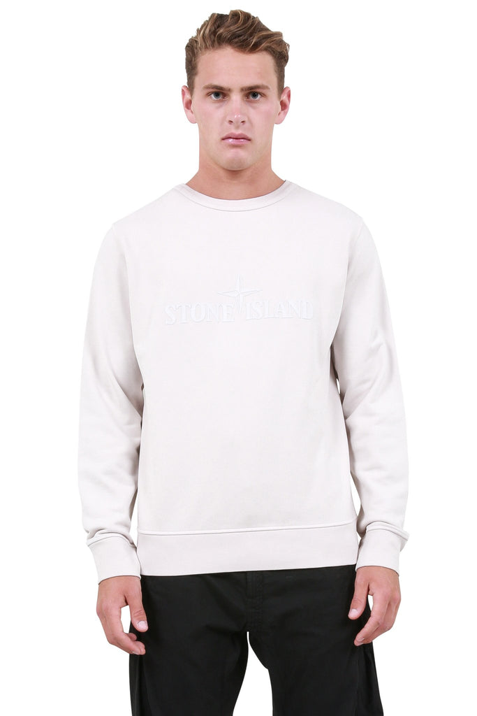 Raised Logo Crewneck - Stucco