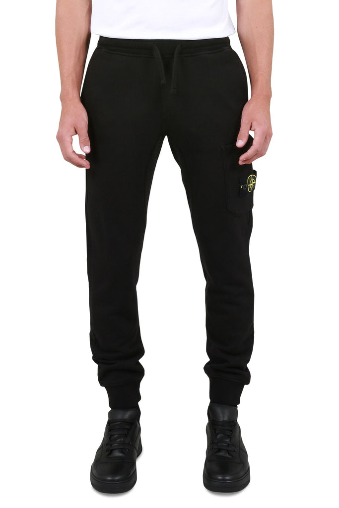 STONE ISLAND: Fleece Sweatpant - Black | LESSONS