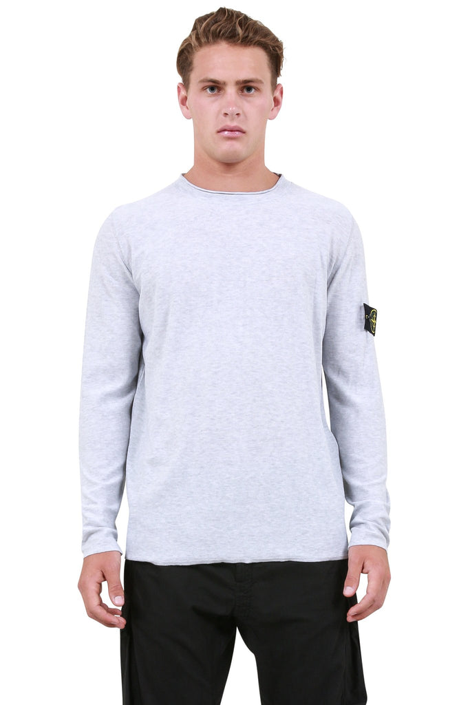 Knit Badge Logo Longsleeve T-Shirt - Grey