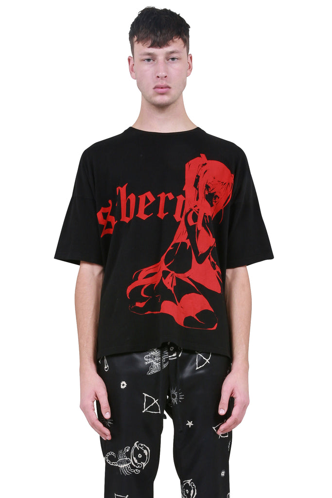 SIBERIA HILLS: Dark Queen T-Shirt - Black/Red | LESSONS