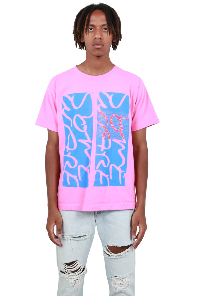 Giant Logo Short Sleeve T-Shirt - Pink