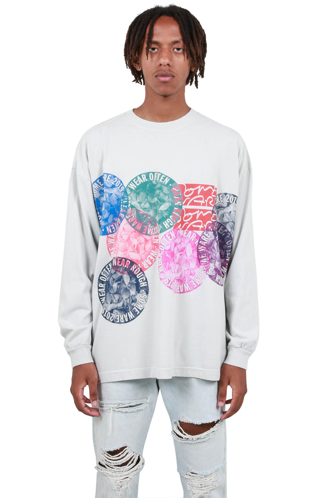 New Flower Circle Long Sleeve T-Shirt - Etaupe