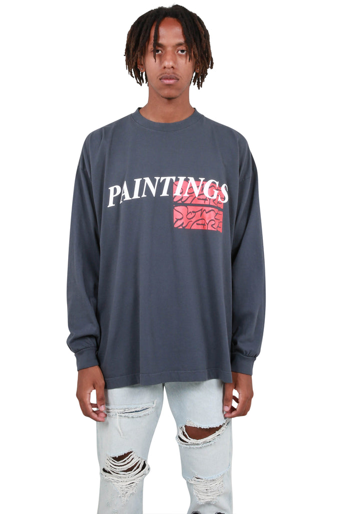 Paintings Long Sleeve T-Shirt - Charcoal