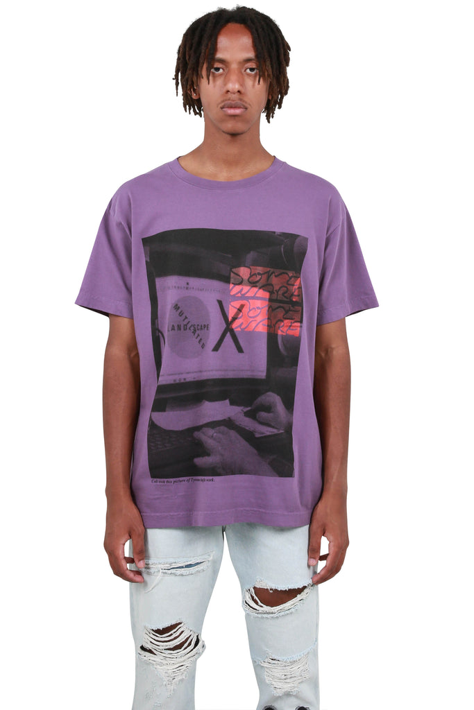Mutilated Landscape T-Shirt - Purple