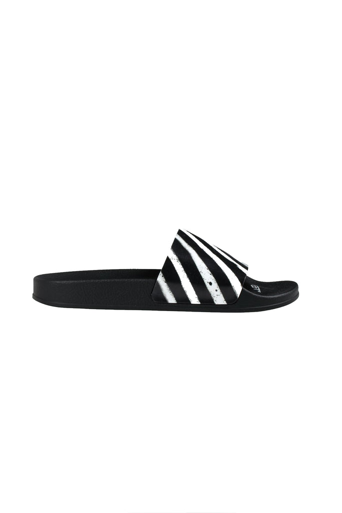 Spray Stripes Slider - Black