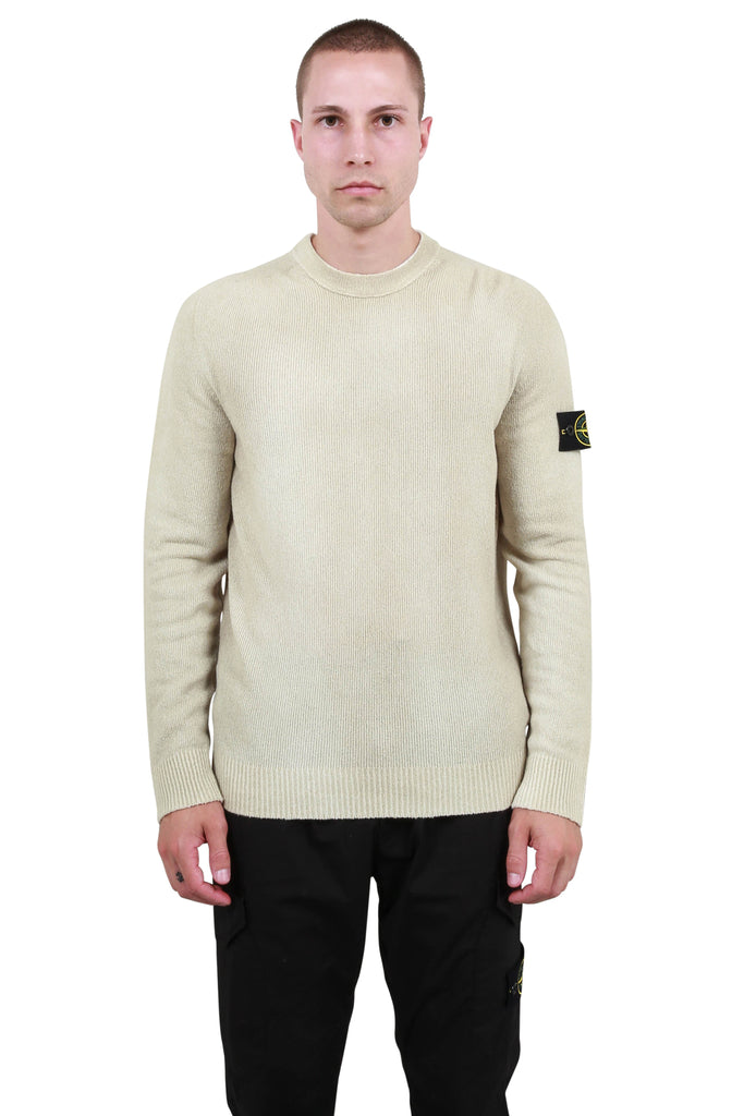 Hand Sprayed Knit Crewneck - Dark Beige