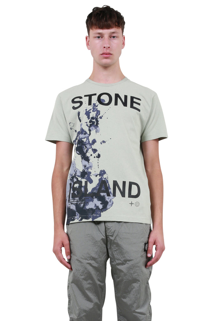 STONE ISLAND: Big Logo T-Shirt - Dust | LESSONS