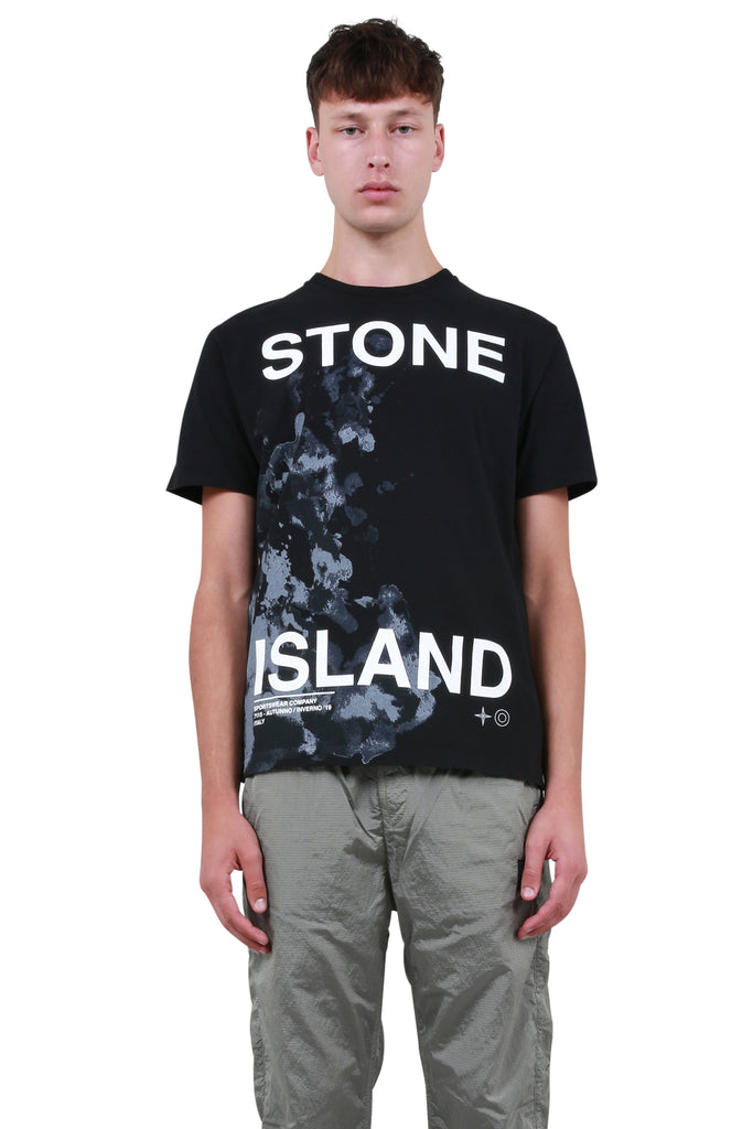 STONE ISLAND: Big Logo T-Shirt - Black | LESSONS