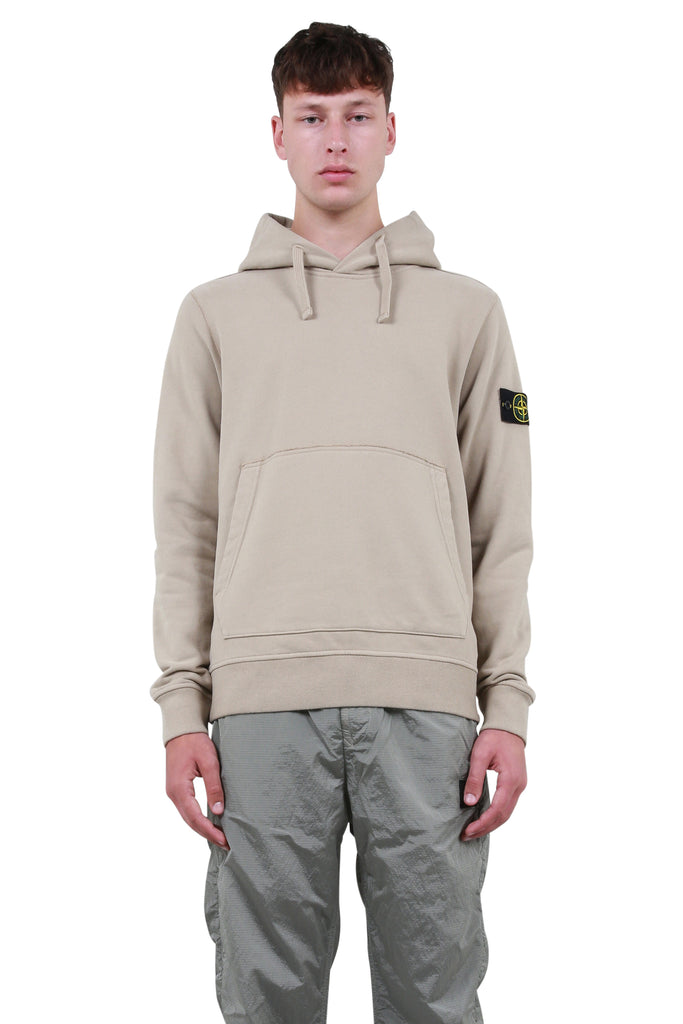 STONE ISLAND: Compass Badge Hoodie - Sand | LESSONS