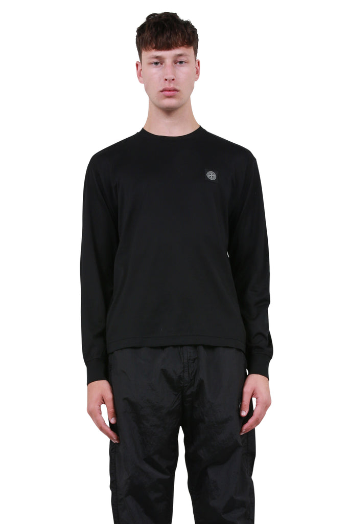 Small Patch Long Sleeve - Black