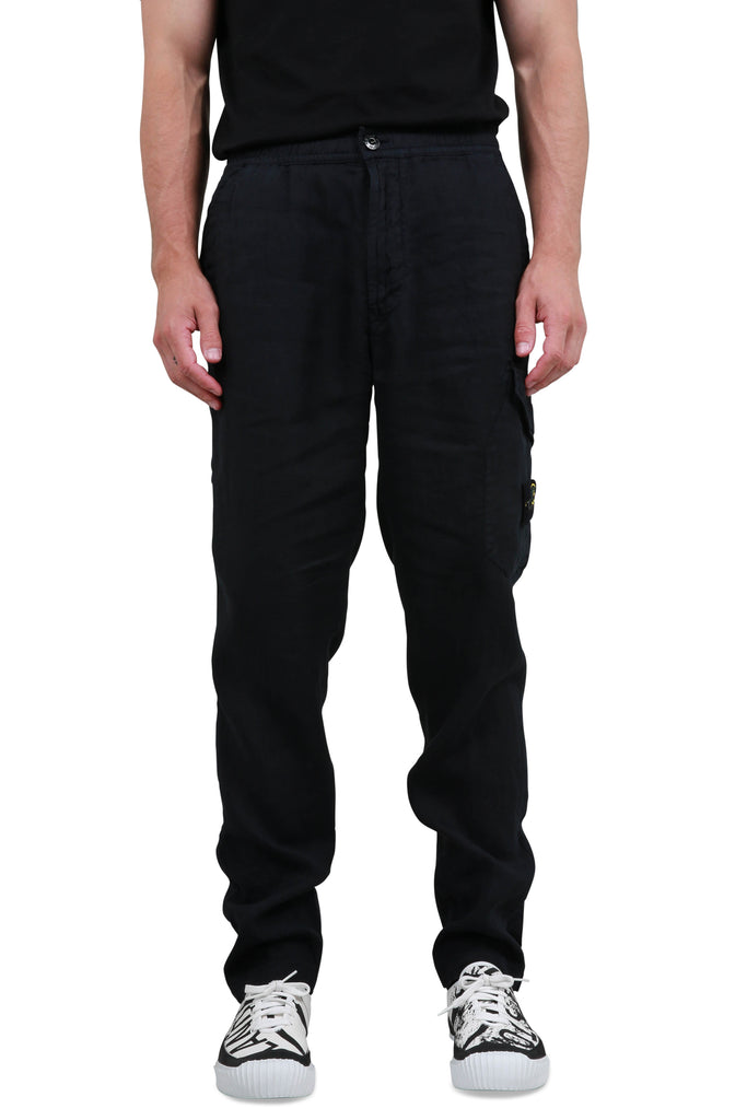 Fissato Dye Treatment Cargo Pants - Dark Blue