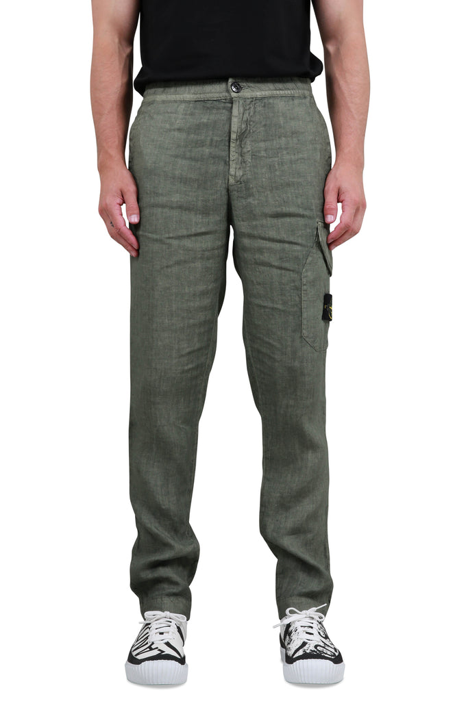 Fissato Dye Treatment Cargo Pants - Olive