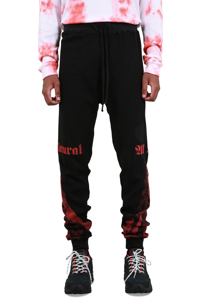 Kilimanjaro Thermal Sweatpants - Black/Red