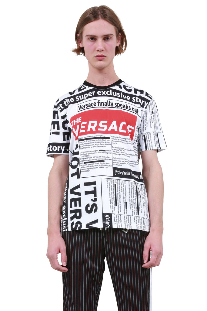 Newspaper Print T-Shirt