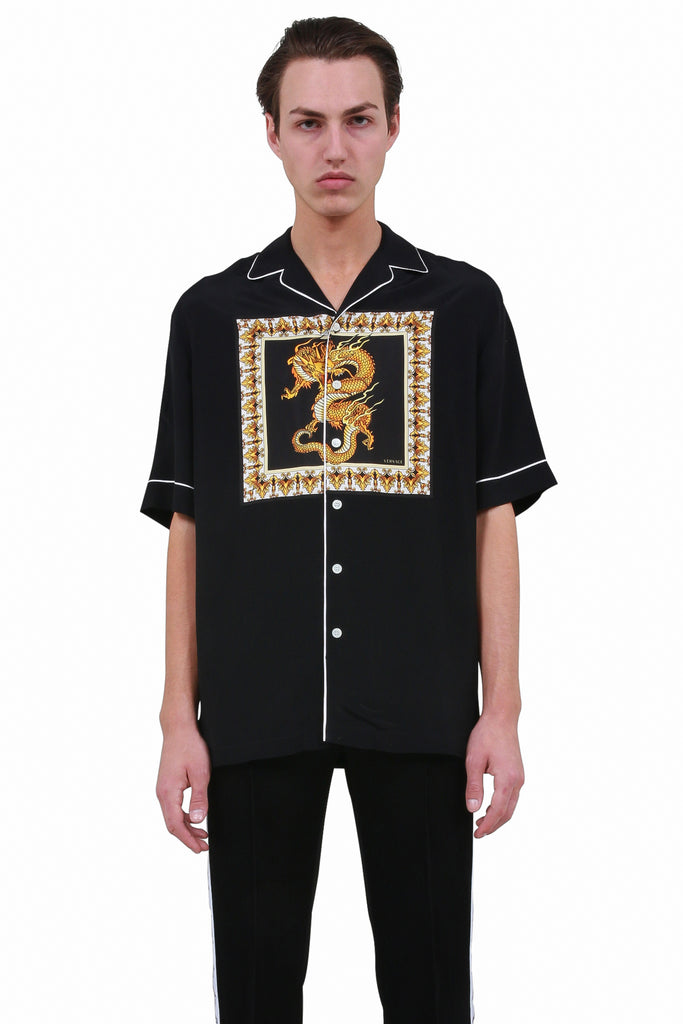 Dragon Motif Shirt - Black