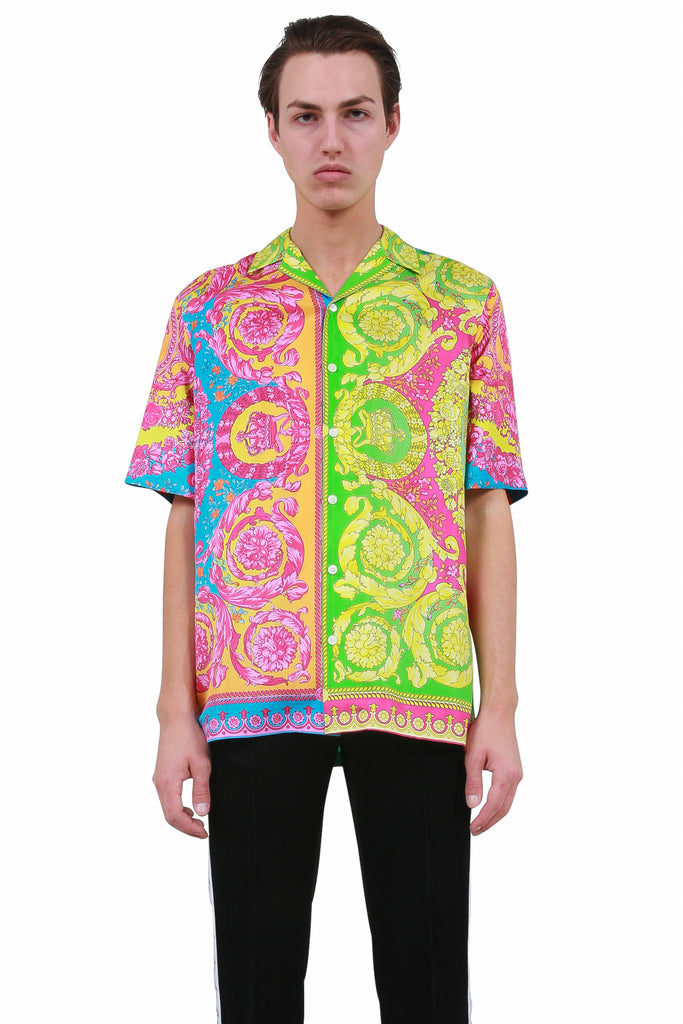VERSACE: Baroque Print Shirt - Multi | LESSONS