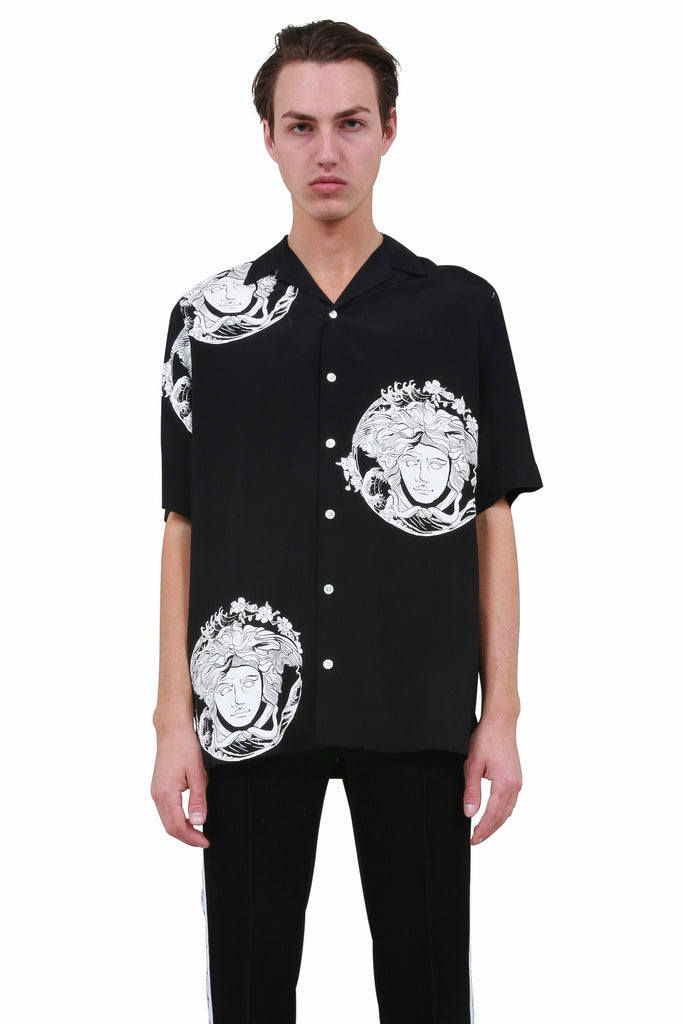 Medusa Head Shirt - Black/White
