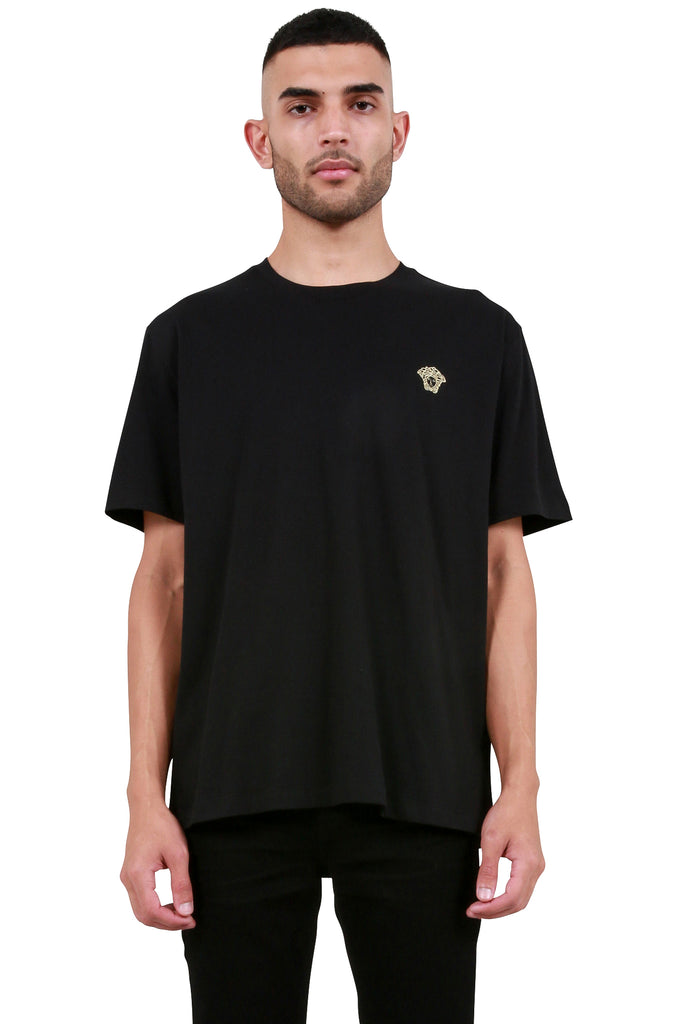 Embroidered Medusa T-Shirt - Black