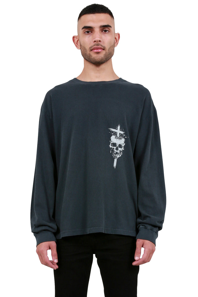 Skull Long Sleeve - Petrol