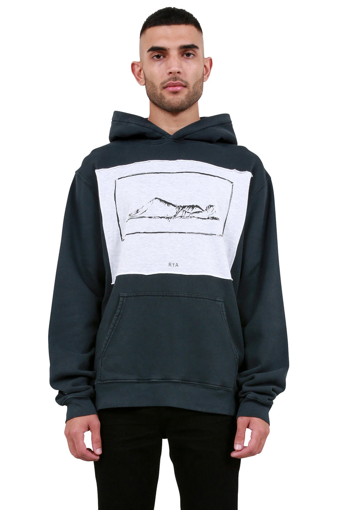 Graphic Patch Hoodie - Petrol