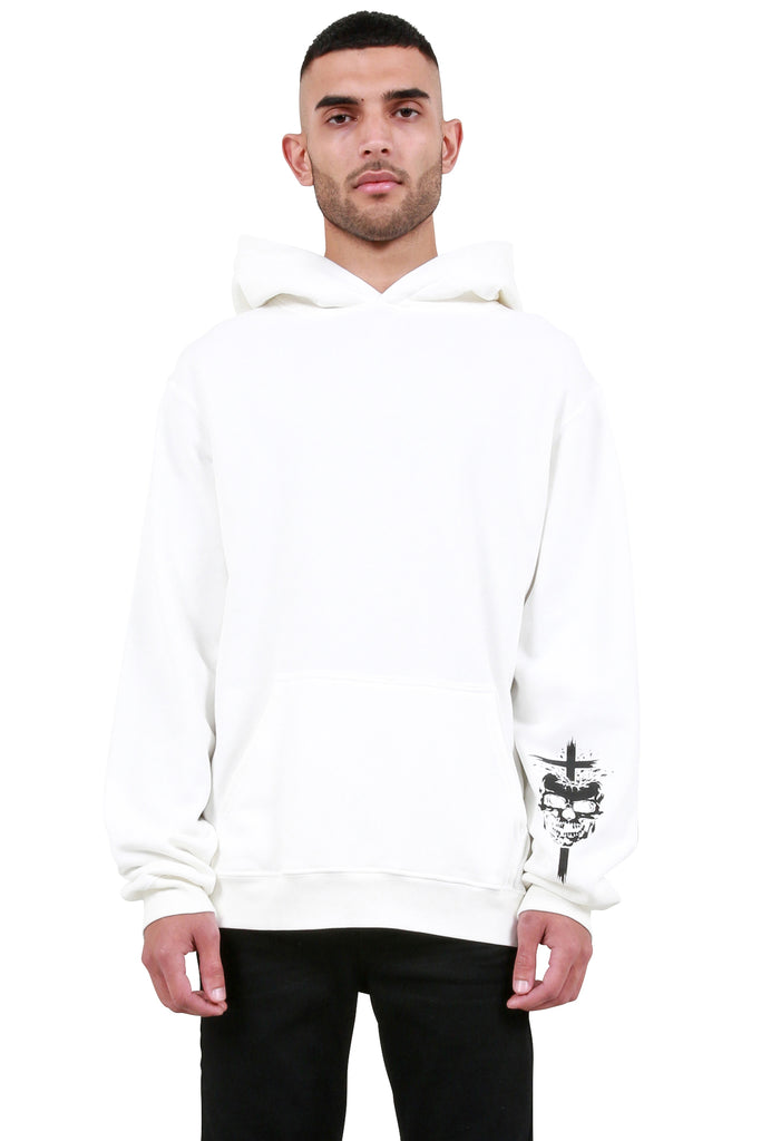 RTA: Back Patch Hoodie - Vintage White | LESSONS