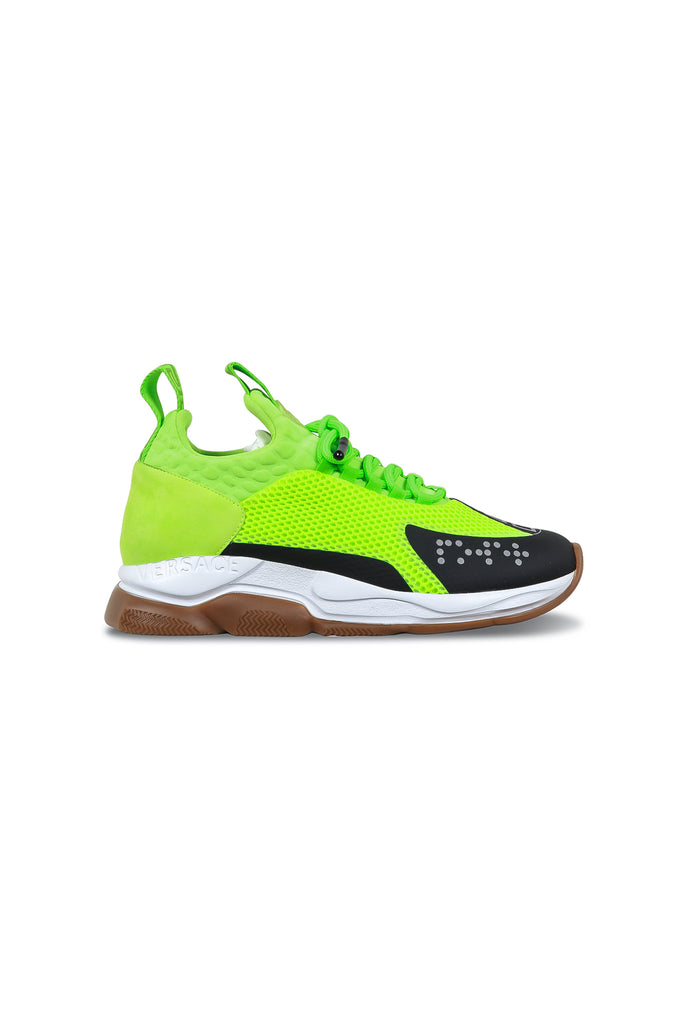 VERSACE: Chain Reaction Cross Trainers - Lime Green | LESSONS