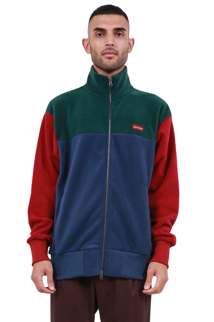Zip-Up Blocked Polar Fleece Jacket - Multicolor