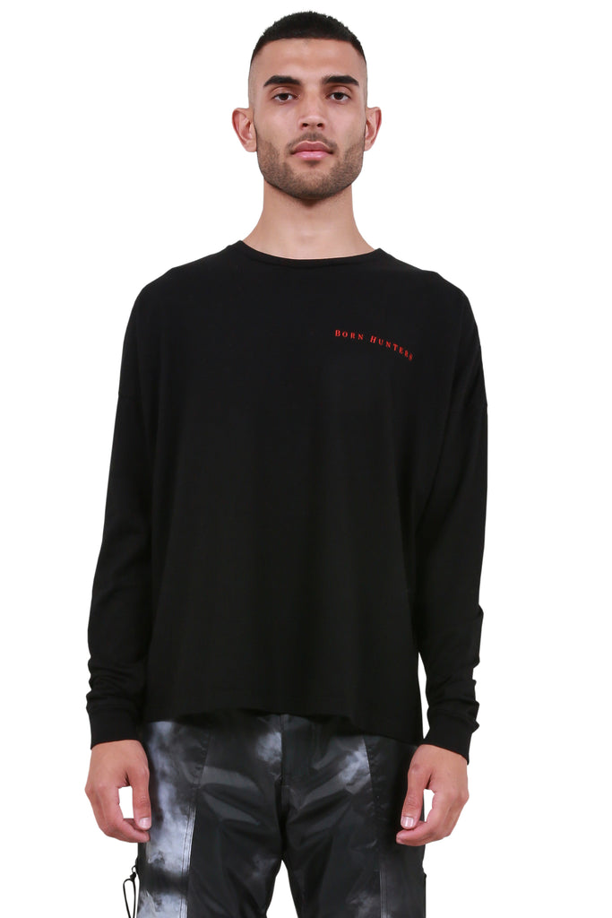 Born Hunters Long Sleeve T-Shirt - Black/Red