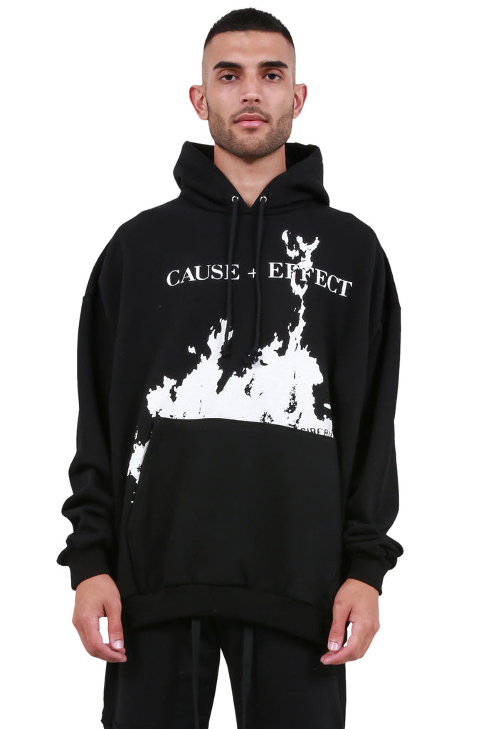Cause & Effect Hoodie - Black/White