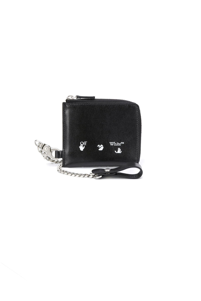 Logo Chain Wallet - Black/White