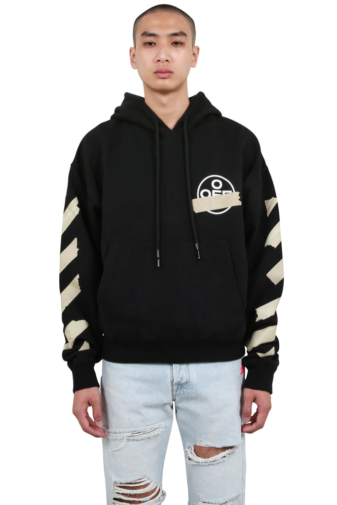 Tape Arrows Over Hoodie - Black/Beige