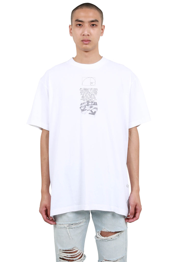 Dripping Arrows Short Sleeve Over T-Shirt - White/Black