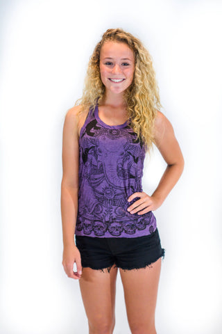 Women's Tank Top Purple Elephant - Koia Collective