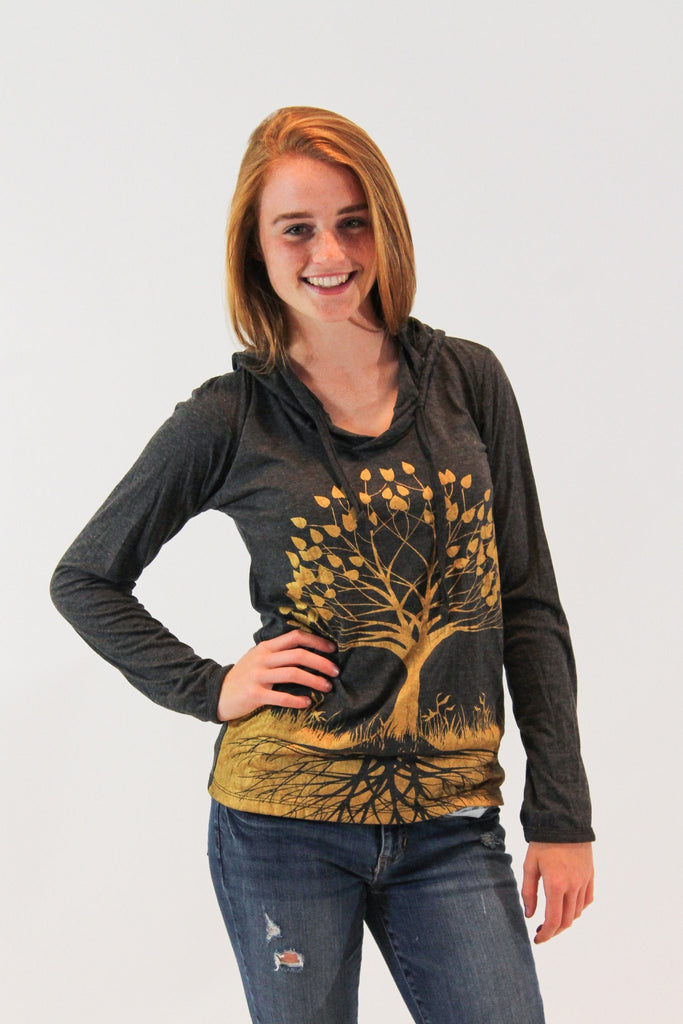 Tree of Life Hoodie Gold - Koia Collective