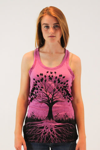 Women's Tank Tree of Life Pink - Koia Collective
