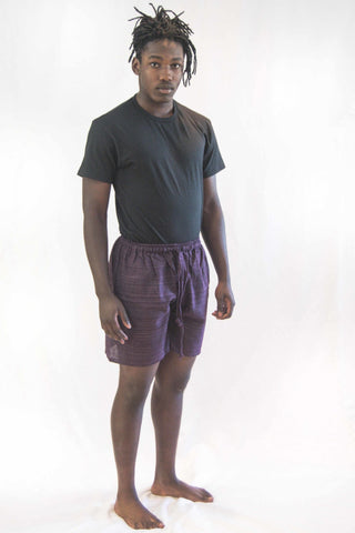 Cotton Drawstring Yoga Shorts Purple - Koia Collective