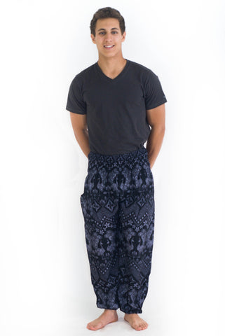 Grey Pattern Harem Pants - Koia Collective