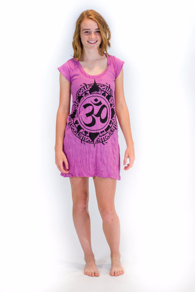 Women's Tunic Dress Ohm Pink - Koia Collective
