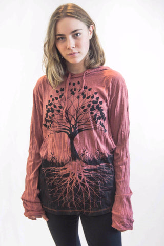 Tree of Life Hoodie Clay Red - Koia Collective