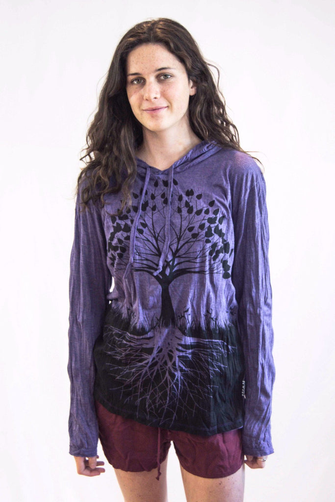 Tree of Life Hoodie Purple - Koia Collective