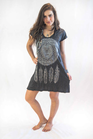 Tunic Dress Dreamcatcher Silver - Koia Collective