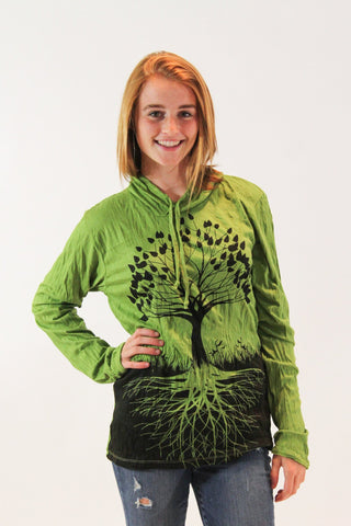Tree of Life Hoodie Green - Koia Collective