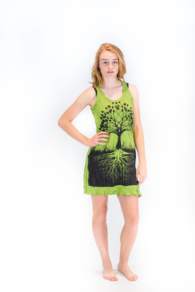 womens-tank-dress-tree-of-life-green