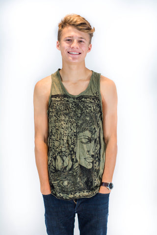 Men's Tank Top Buddha Green - Koia Collective